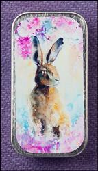 Just Nan - Needle Slide Mini - March Hare-Just Nan - March Hare Needle Slide Mini, Easter, spring, needles, magnets, cross stitch, needlework