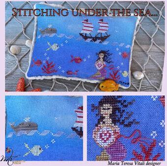 MTV Designs - Stitching Under the Sea-MTV Designs - Stitching Under the Sea, mermaid, whale, sail boat, ocean, fish, cross stitch