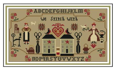 Twin Peak Primitives - Message from Stitchers-Twin Peak Primitives - Message from Stitchers, cross stitch friends, sewing, crafts, cross stitch