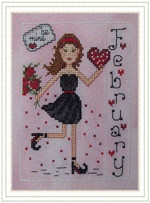 Whispered by the Wind - Elves of the North Pole - Part 02 of 12 - Miss February - Cross Stitch Pattern