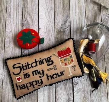 Needle Bling Designs - Stitching is My Happy Hour-Needle Bling Designs - Stitching is My Happy Hour, hobbies, my time, pastime, cross stitch