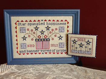 Needle Bling Designs - Spangled Happiness-Needle Bling Designs, Spangled Happiness, 4th of july, patriotic, spirit,  Cross Stitch Patterns