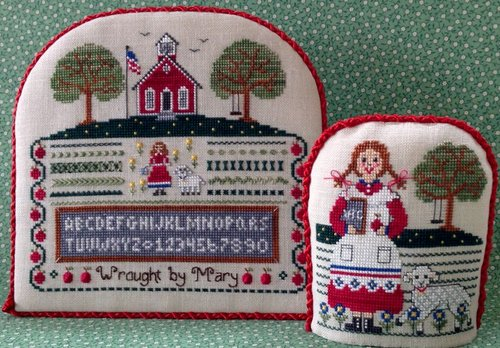 The Needle's Notion - Mary's Schoolgirl Sampler-The Needles Notion - Marys Schoolgirl Sampler - children, schoolhouse, abcs, Cross Stitch Pattern