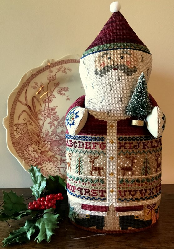 The Needle's Notion - Sampler Santa-The Needles Notion - Sampler Santa, Santa Claus, Christmas, holidays, North Pole, gifts, cross stitch