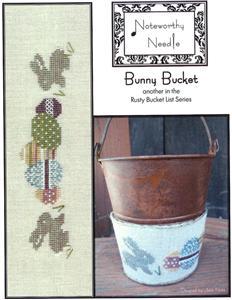 Noteworthy Needle - Bunny Bucket-Noteworthy Needle - Bunny Bucket, Easter, Easter eggs, Easter egg hunt, Easter bunny, cross stitch,