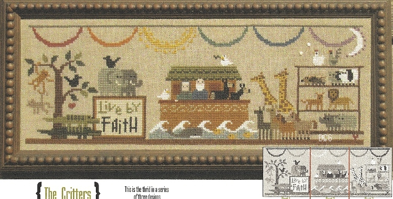 Bent Creek - The Noah's Ark Mantel - Part 3 of 3 - The Critters - Cross Stitch Kit