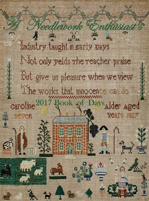 Needle WorkPress -  A Needlework Enthusiast's 2018 Book Of Days-Needle WorkPress -  A Needlework Enthusiasts 2018 Book Of Days CALENDAR, cross stitch, country, primitive