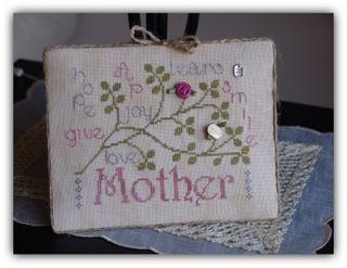 New York Dreamer - Mother - Cross Stitch Pattern-New, York,  Dreamer,  Mother,  Cross, Stitch, Pattern, mothers, day, love,