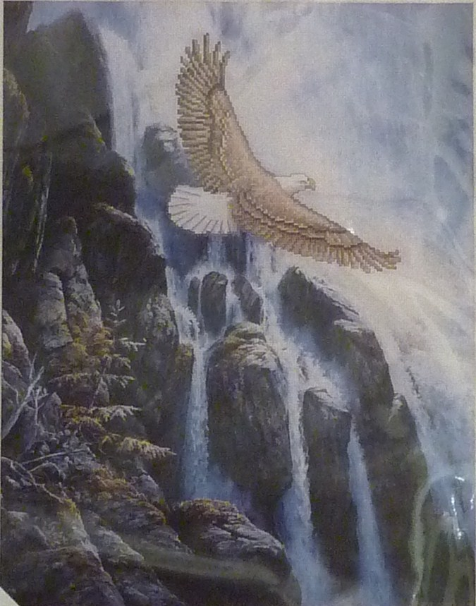 Needle Treasures - Soaring Eagle - Cross Stitch Kit-JCA, Needle Treasures, Soaring Eagle, Cross Stitch Kit,