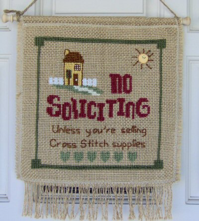 Designs by Lisa - No Soliciting - Cross Stitch Pattern