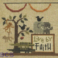 Bent Creek - The Noah's Ark Mantel - Part 1 of 3 - Live by Faith - Cross Stitch Kit-Bent Creek - The Noahs Ark Mantle, Part 1 of 3 Live by Faith - Cross Stitch Kit