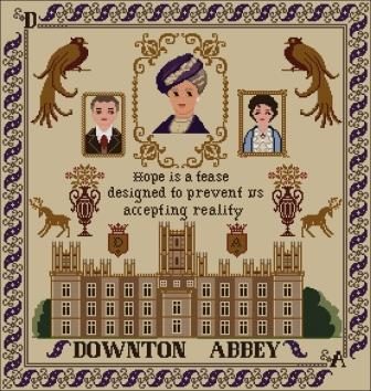Twin Peak Primitives - Nobility Sampler  (Downton Abbey)-Twin Peak Primitives - Nobility Sampler  Downton Abbey, English, tv show,