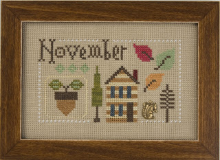 Lizzie Kate - Yearbook Double-Flip - November/December-Lizzie Kate, Yearbook Double-Flip - NovemberDecember, Fall, Thanksgiving, Christmas, cross stitch