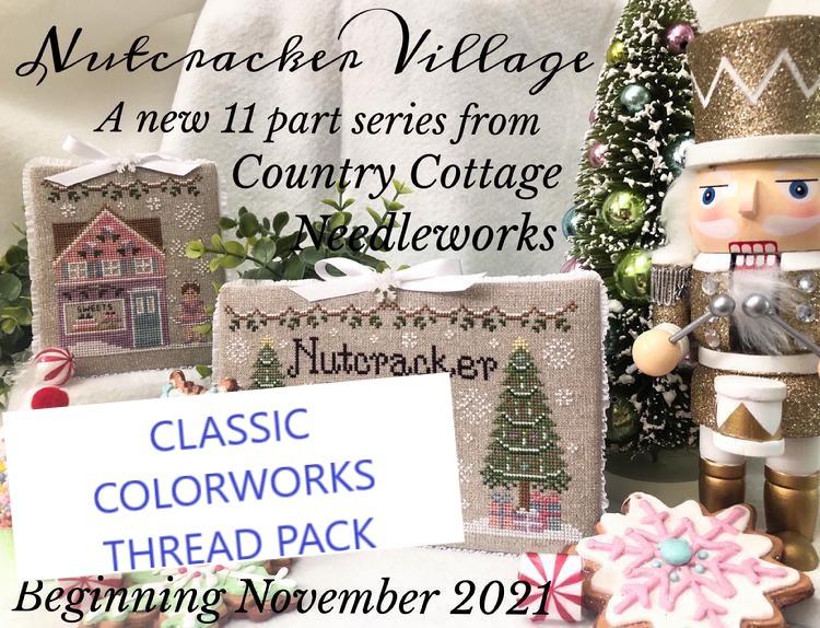 Country Cottage Needleworks - Nutcracker Village Thread Pack-Country Cottage Needleworks - Nutcracker Village Thread Pack, Classic Colorworks threads, cross stitch, floss, Christmas,