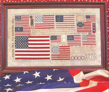 Rosewood Manor - Old Glory - Cross Stitch Pattern Book-Rosewood Manor - Old Glory - Cross Stitch Pattern Book
