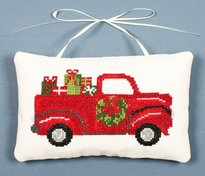 The Posy Collection - Bringing the Gifts Kit-The Posy Collection - Bringing the Gifts Kit, Christmas, Christmas tree, red truck, cross stitch