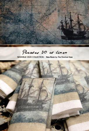 The Primitive Hare - Pirates 30 ct Linen-The Primitive Hare - Pirates 30 ct Linen, The Mermaid of Salem Bay