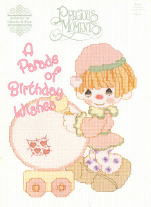 Precious Moments - A Parade of Birthday Wishes - Cross Stitch Pattern