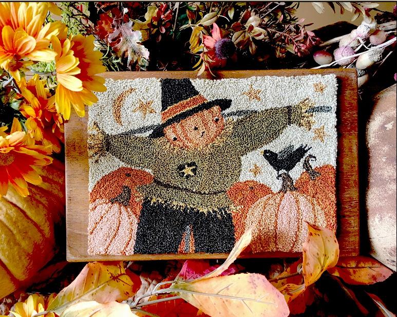 Teresa Kogut - Happy Scarecrow - Punchneedle-Teresa Kogut - Happy Scarecrow - Punchneedle Pattern