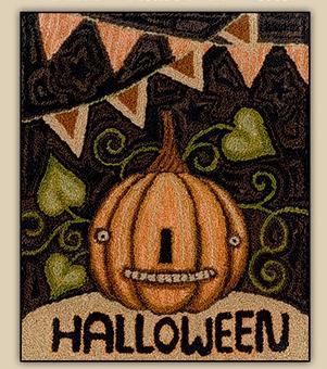 Teresa Kogut - Halloween Jack - Punchneedle-Teresa Kogut - Halloween Jack - Punchneedle, pumpkin, Halloween, fall, trick or treat,