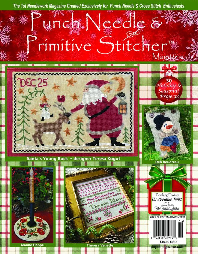 Punch Needle & Primitive Stitcher Magazine 2021 - Issue 4 Christmas-Winter Mega-Punch Needle  Primitive Stitcher Magazine 2021 - Issue 4 Christmas-Winter Mega, cross stitch,