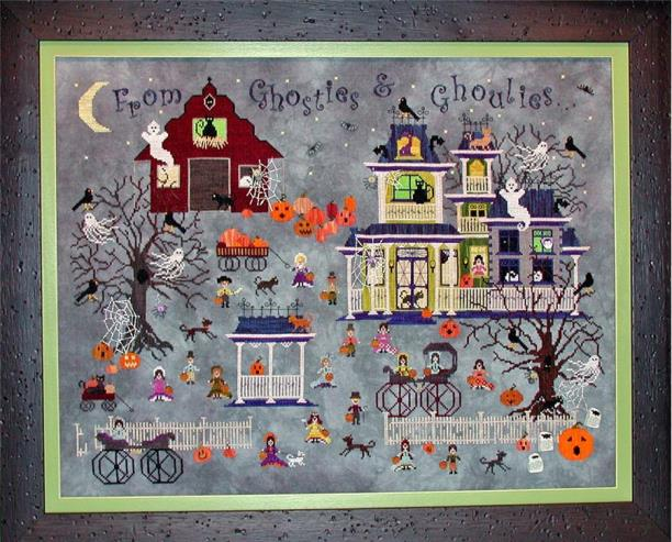 Praiseworthy Stitches - Bump N D'Knight Farm-Praiseworthy Stitches - BumpN.DKnightFarm, Halloween, farm, scary, bats, haunted house, ghosts, barn, pumpkins, trick or treat, childrens Halloween costume, cross stitch