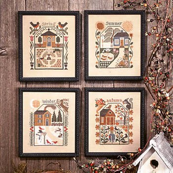 Prairie Schooler - Prairie Seasons-Prairie Schooler - Prairie Seasons,  spring, summer, winter, autumn, cross stitch