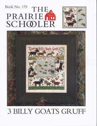 Prairie Schooler - 3 Billy Goats Gruff-Prairie Schooler - 3 Billy Goats Gruff - Cross Stitch Pattern