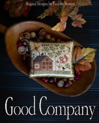 Plum Street Samplers - Good Company-Plum Street Samplers - Good Company, foxes, fall, quilt, house, crow, sunflower, cross stitch