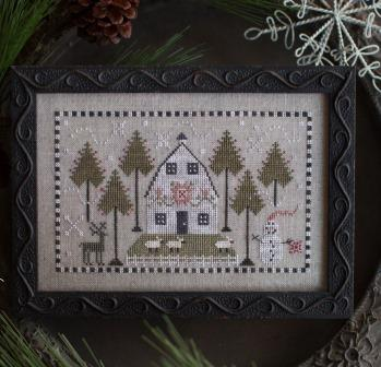 Plum Street Samplers - A Country Winter-Plum Street Samplers - A Country Winter, reindeer, snow-woman, quilt, sheep, cross stitch