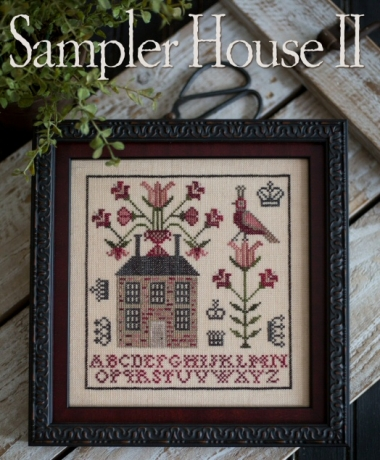 Plum Street Samplers - Sampler House II-Plum Street Samplers - Sampler House ll, house, alphabet, birds, samplers, cross stitch
