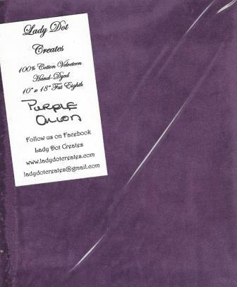 Lady Dot Creates - Velveteen - Purple Onion