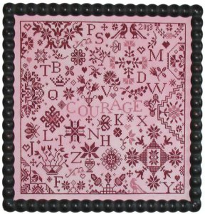 Praiseworthy Stitches - Simple Gifts - Courage - Cross Stitch Pattern-Praiseworthy Stitches, Simple Gifts, Courage, Cross Stitch Pattern