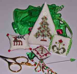 Praiseworthy Stitches - O Tannenbaum Etui-Praiseworthy Stitches, O Tannenbaum Etui,Christmas, kits,  Cross Stitch