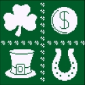 Flowers 2 Flowers - St. Patrick's Square - Cross Stitch Pattern-Flowers 2 Flowers - St. Patrick's Square - Cross Stitch Pattern