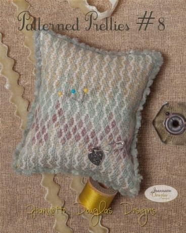 Jeannette Douglas Designs - Patterned Pretties # 8-Jeannette Douglas Designs - Patterned Pretties  8, pincushion, wool, cross stitch