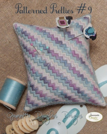 Jeannette Douglas Designs - Patterned Pretties # 9-Jeannette Douglas Designs - Patterned Pretties 9, ocean, teal, purple, cross stitch,