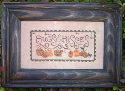 Plum Street Samplers - Bugs & Hisses-Plum Street Samplers, Bugs  Hisses, pumpkins, black cat, halloween, fall, spider web,  Cross Stitch Pattern