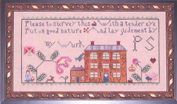 Praiseworthy Stitches - Alphabet House-Praiseworthy Stitches Alphabet House  Cross Stitch Pattern