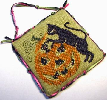 Tempting Tangles - Punkin Play-Tempting Tangles - Punkin Play, jack o lantern, kitty, black cat,