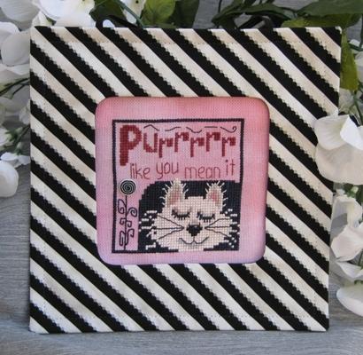 Designs by Lisa - Purrrrr Like You Mean It - Cross Stitch Pattern