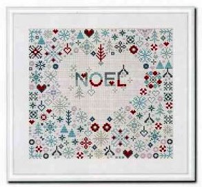 Riverdrift House - Noel Heart-Riverdrift House - Noel Heart, Christmas, love, hearts, cross stitch