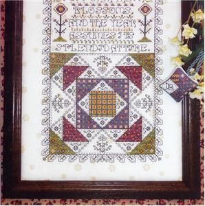 Rosewood Manor - Spring Has Come - Mystery Sampler - Part 3 of 3 - Cross Stitch Chart-Rosewood Manor,  Spring Has Come, Mystery Sampler - Part 3 of 3, flowers, quilts,  Cross Stitch Chart