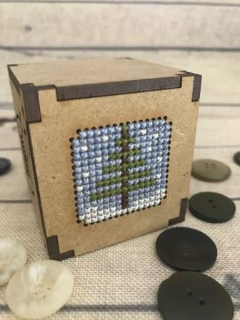 Romy's Creations - Wooden Candle Holder - Limited Edition-Romys Creations - Wooden Candle Holder, cross stitch