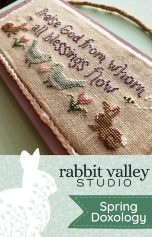 Rabbit Valley Studio - Spring Doxology-Rabbit Valley Studio - Spring Doxology, songs, hymn, church, spring, rabbits, birds, cross stitch