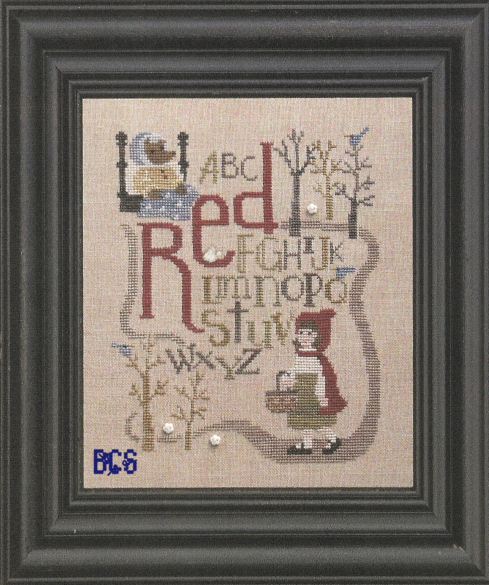 Bent Creek - Red - Once Upon a Stitch - Cross Stitch Pattern-Bent Creek - Red - Once Upon a Stitch - Cross Stitch Pattern