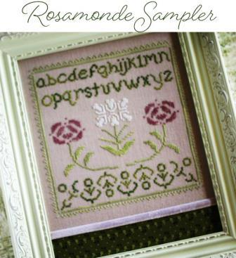 October House - Rosamond Sampler-October House - Rosamond Sampler, flowers, sampler, cross stitch