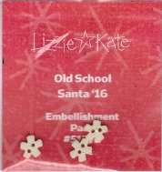 Lizzie Kate - 2016 Santa - Old School Embellishment Pack-Lizzie Kate - 2016 Santa - Old School Embellishment Pack, Santa Claus, Christmas, cross stitch