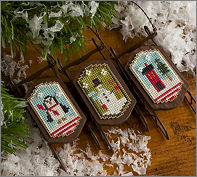 Lizzie Kate - Sleds - Snowy Sleds Snippet-Lizzie Kate - Sleds - Snowy Sleds Snippet, Christmas, ornaments, Christmas tree ornaments, cross stitch,