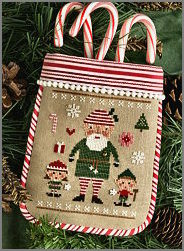 Lizzie Kate - 2017 Santa - The Elves Did It-Lizzie Kate - The Elves Did It, Santa 17, Santa Claus, elves, North Pole, cross stitch, Christmas